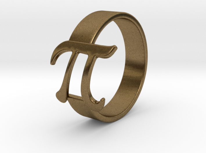 PI RIng Silver Size8 3d printed