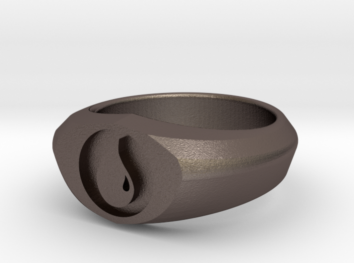MTG Island Mana Ring (Size 8) 3d printed