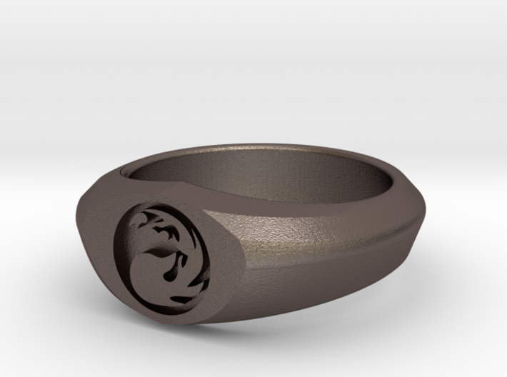 MTG Mountain Mana Ring (Size 11) 3d printed