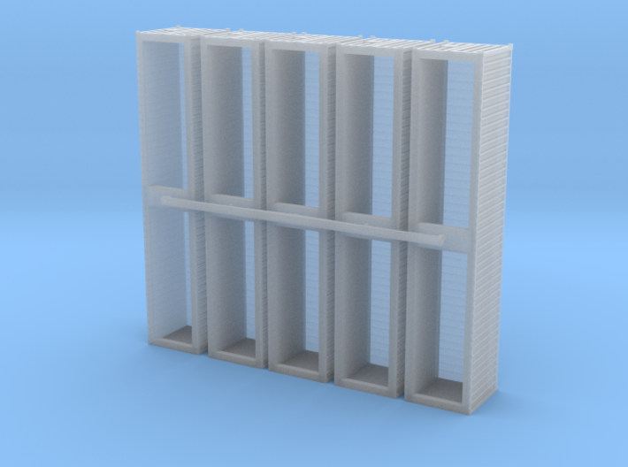 Container 40ft. Set of 5, 1/285, 6mm. 3d printed