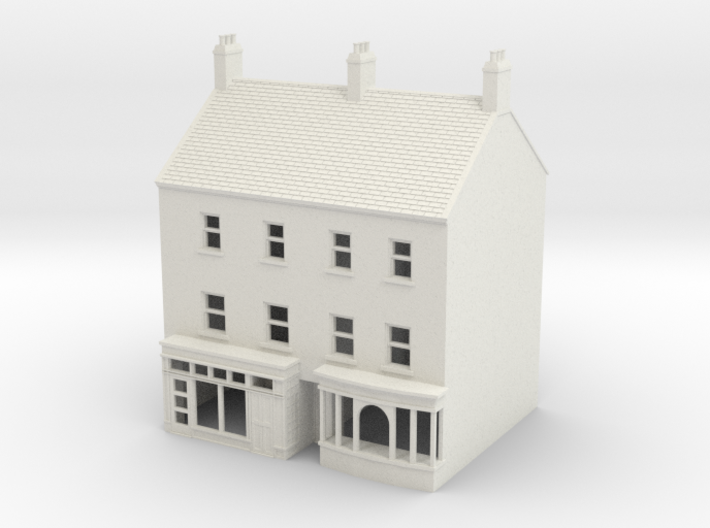 HHS-4 Honiton High Street building N Scale 1:148 3d printed