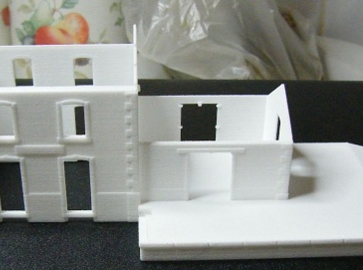 Gare CfD - Walls ( Nm Gauge ) 3d printed This model as received