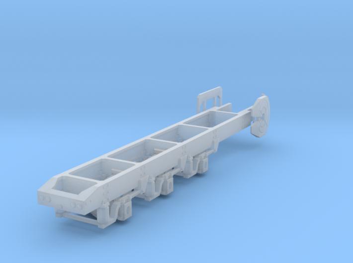 1/87th HO scale Semi-Truck Tridem drive frame  3d printed