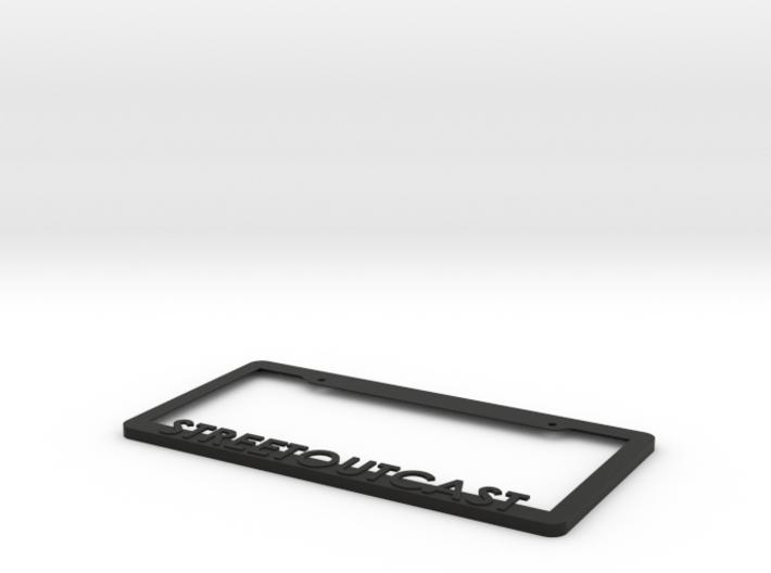 Streetoutcast License Plate Frame 3d printed