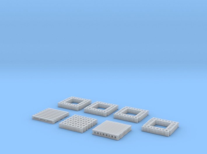 1:160 N Scale Concrete Blocks on Pallet 3d printed