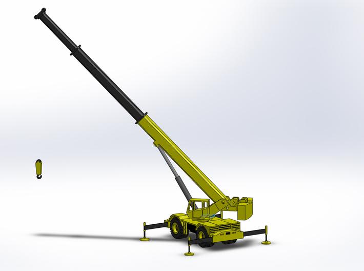 Rough Terrain Crane, Geländekran 1/285 6mm 3d printed