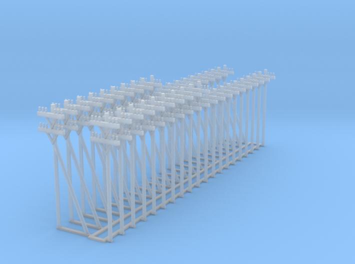 Telephone Poles, Telefon-Masten 1/285 6mm 3d printed