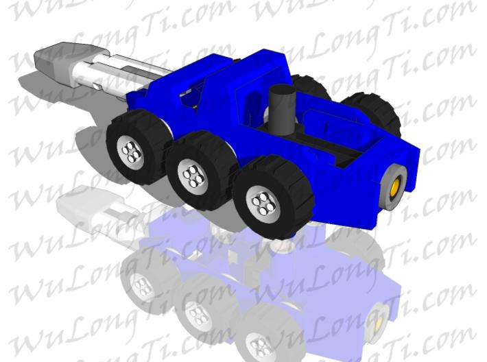 Target Master Roller 3d printed gun mode for smaller figures