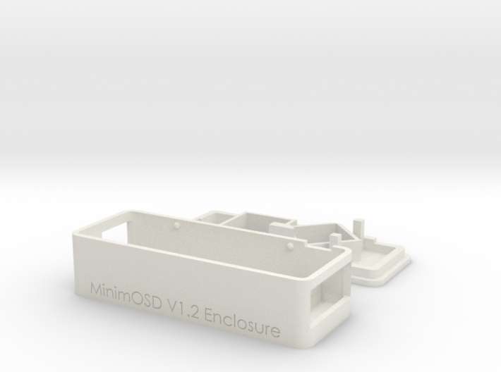 MinimOSD V1.1 & 1.2 enclosure with side opening 3d printed