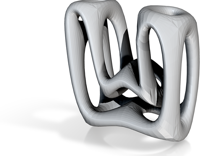 Alphabet W 3d printed In an abstract organic design and 10mm Tall.