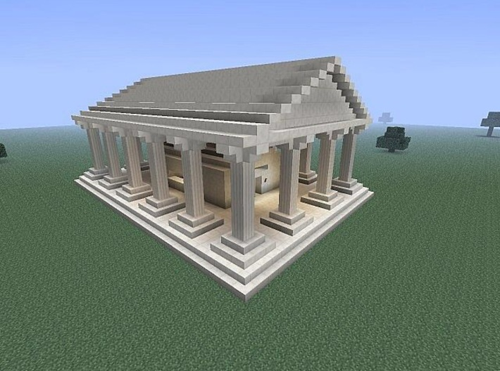 Minecraft colony starter Big temple style A (Tiny 3d printed The actuall final product would look something like this, but a larger and tniy pixels version