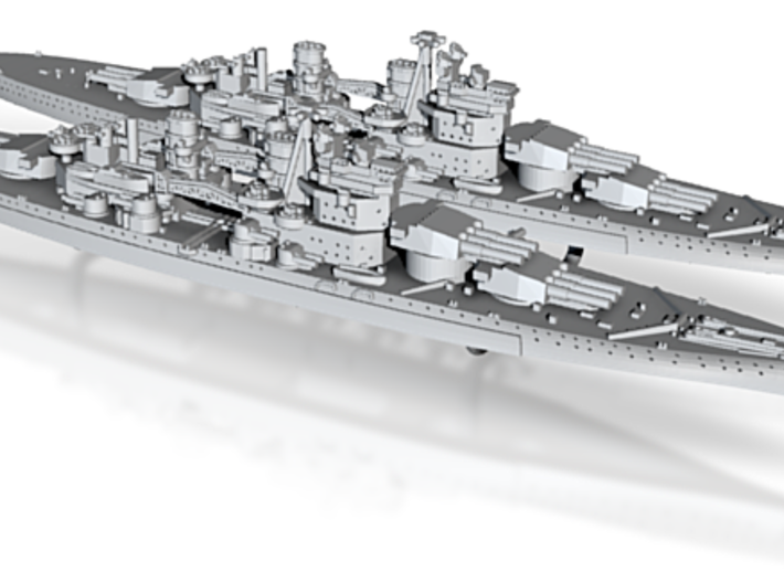 1/3000 UK Lion class battleship (1939) x2 3d printed