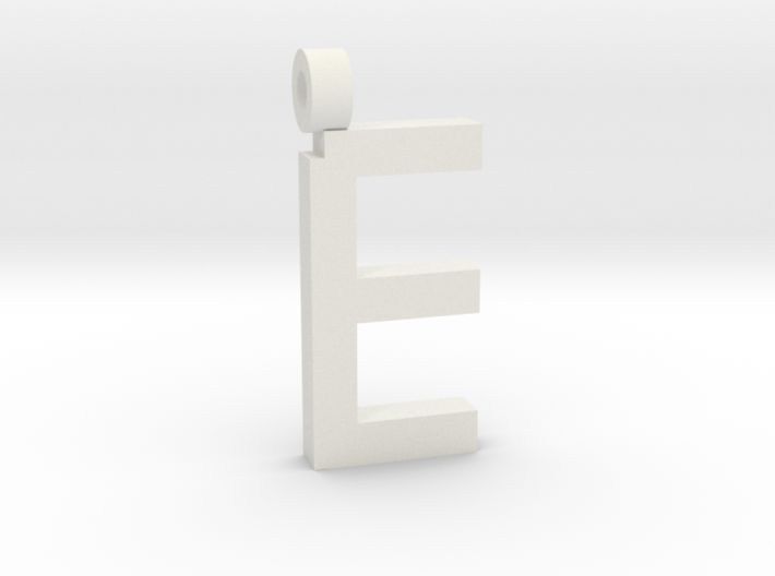 Letter E Necklace 3d printed