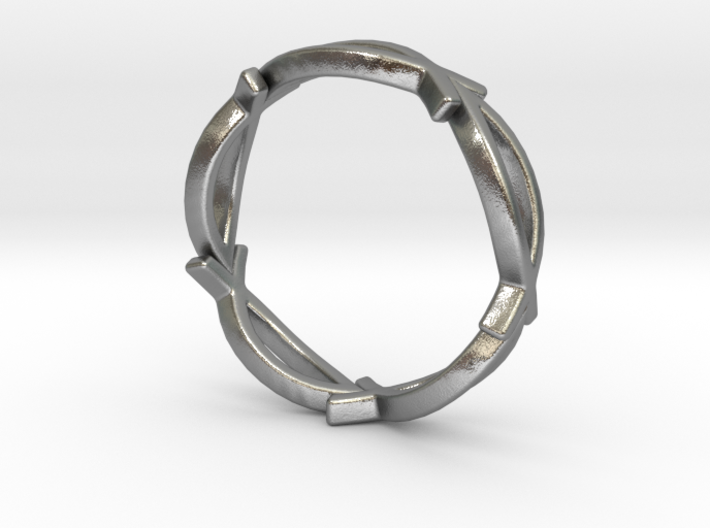 Jesus Fish Eternity Style Ring size 7 3d printed