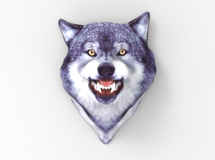 Courage Wolf Head 3d printed