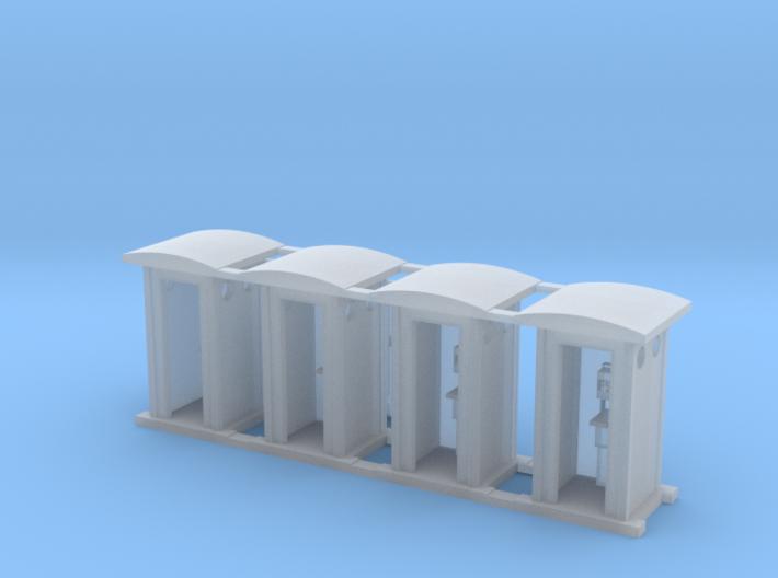 N Scale 1:160 Cabina di Telefonica - FS Railways 3d printed