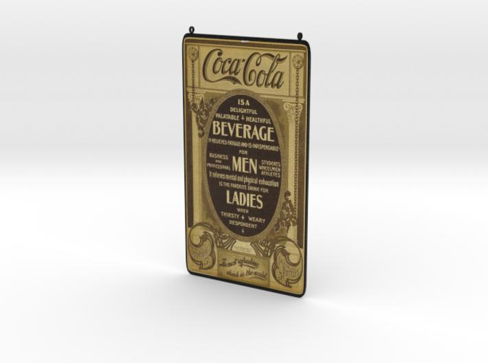 Coca Cola Vintage Ad 3d printed