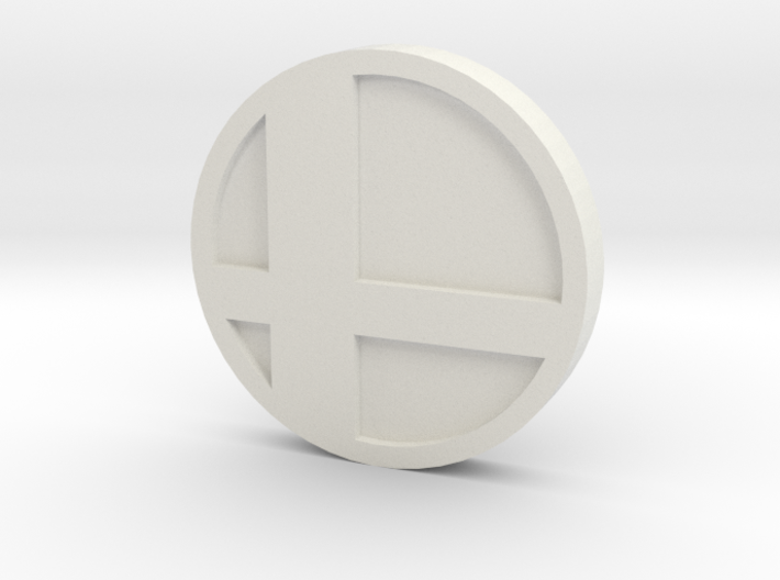 Super Smash Brothers Coin 3d printed