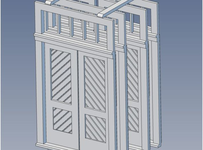O Scale Booking Station Standard Door Set 3d printed