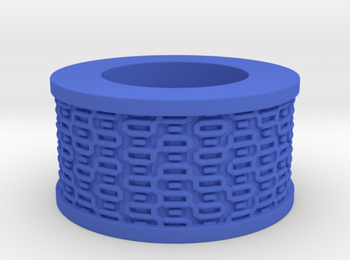 Rectangles pattern Ring Size 11 3d printed