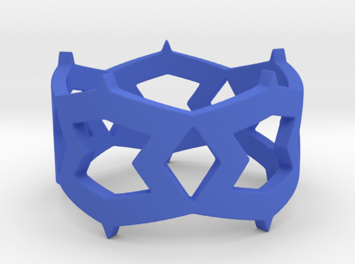 Rhombus and other shapes Ring Size 11 3d printed