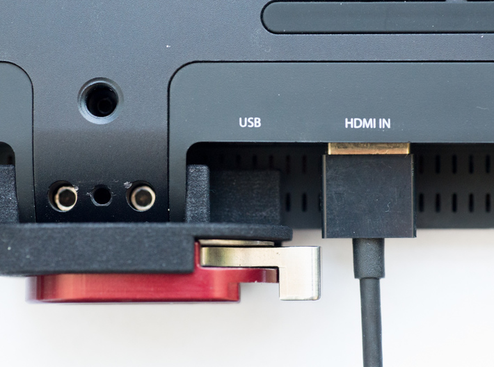 Cinelock Cradle for SmallHD DP7 monitor 3d printed HDMI cables should still clear depending on the size of your cable's plug.