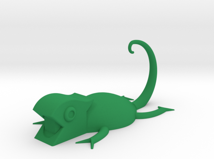 Chameleon Bathroom Accessory 3d printed