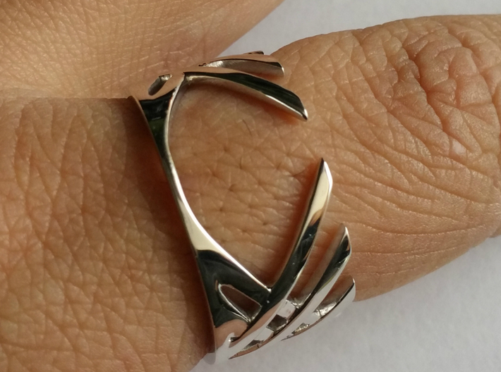 Cross Over Ring (13 1/2) 3d printed