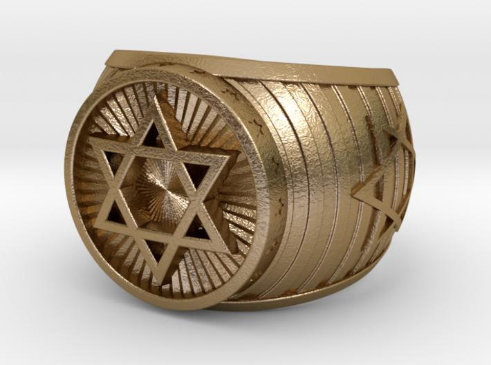 Jewish Ring 3d printed