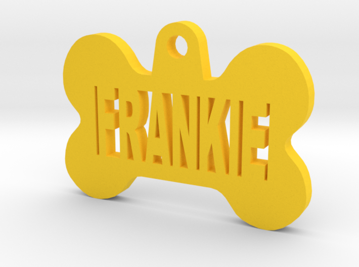 Bone Pet ID Tag - Frankie 3d printed