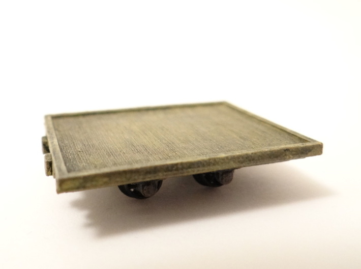 A.G.W.I. Oil Refinery Flat Wagons (x4) 3d printed A Detailed and Painted Wagon