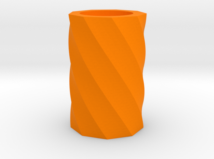 Twisted polygon vase 3d printed
