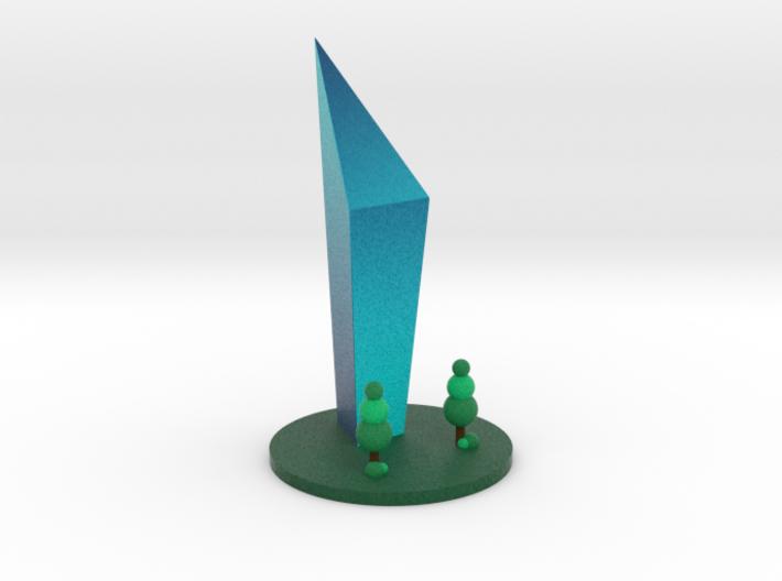 Blue Skyscraper 3d printed