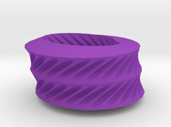 Twisted ovals bracelet 3d printed