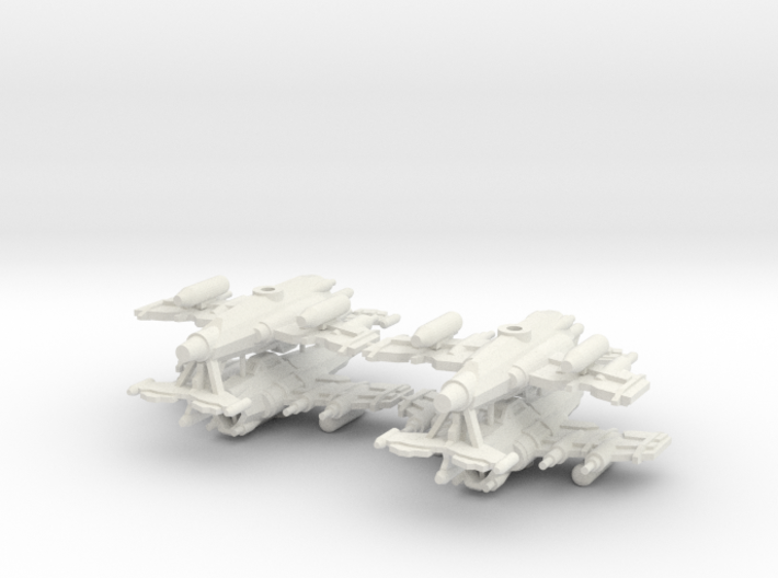 6mm Greenskin Fighter Bombers (x4) 3d printed