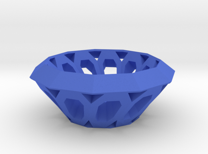 Bowl with oval holes 3d printed