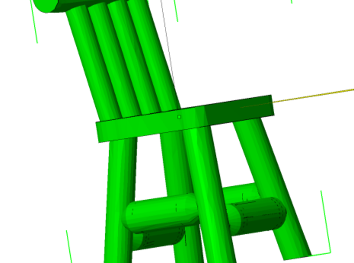Rustic Chairs, Tables and Bar Stools HO Scale 3d printed Short Chair