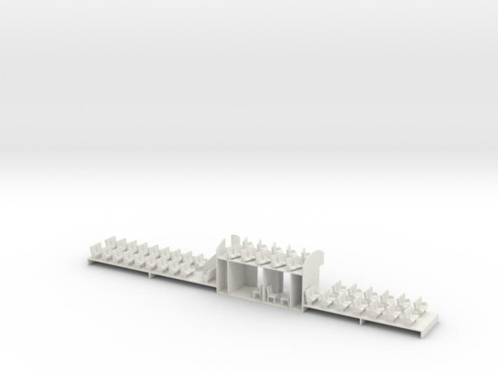 Athearn Streamline Vistadome Interior HO Scale 3d printed