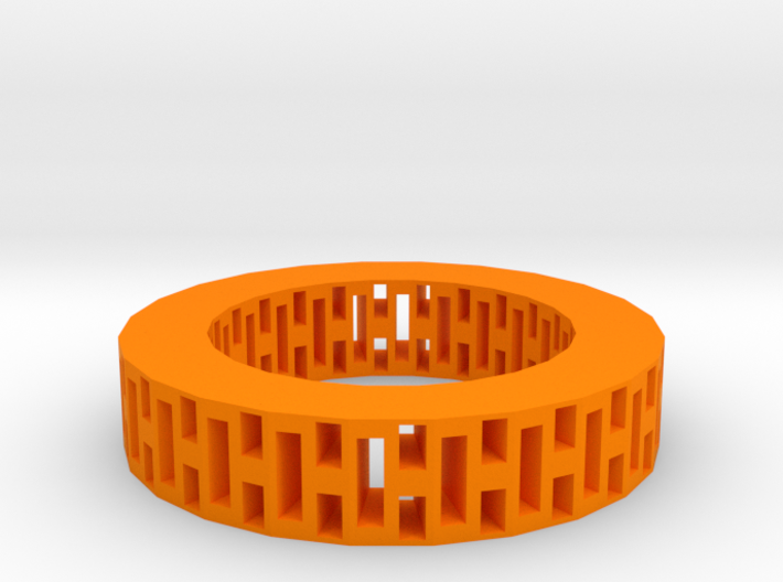 Rectangle holes bracelet 3d printed