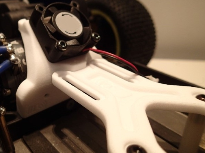 Battery Strap with stops for Associated B5M 3d printed With our chassis brace