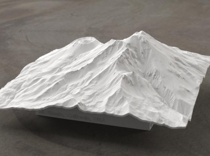 6'' Mt. Shasta Terrain Model, California, USA 3d printed Radiance rendering