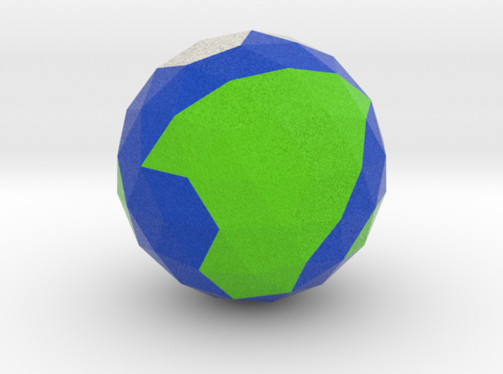 The Earth 3d printed