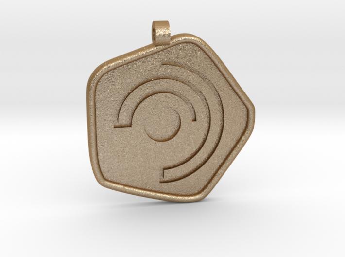 New Harmony Pendant | Round Borders 3d printed