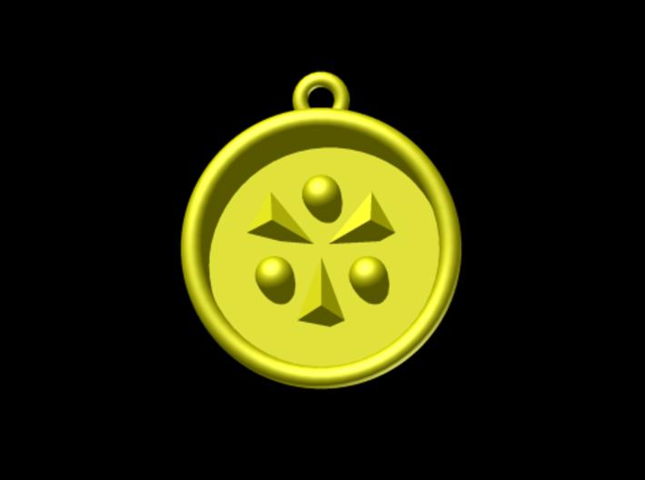 Zelda Ocarina Of Time Light Medallion 3d printed Autodesk Render