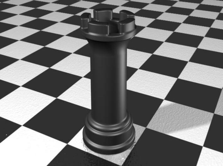 Rook Chess Piece Shot Glass - 30 mL 3d printed Gloss Matte Porcelain