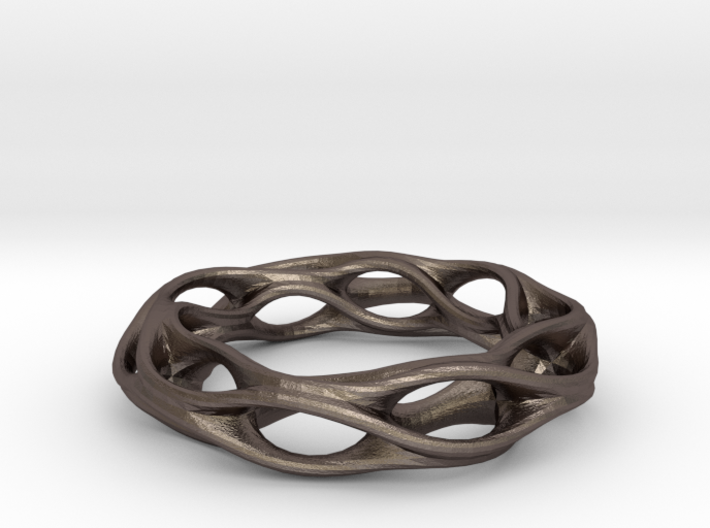 Twisted Holes Ring 17mm 3d printed