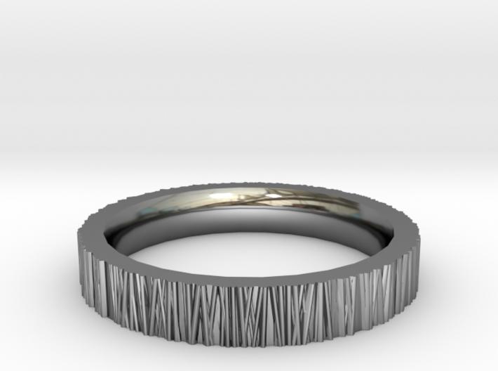 Tree Bark Ring 3d printed