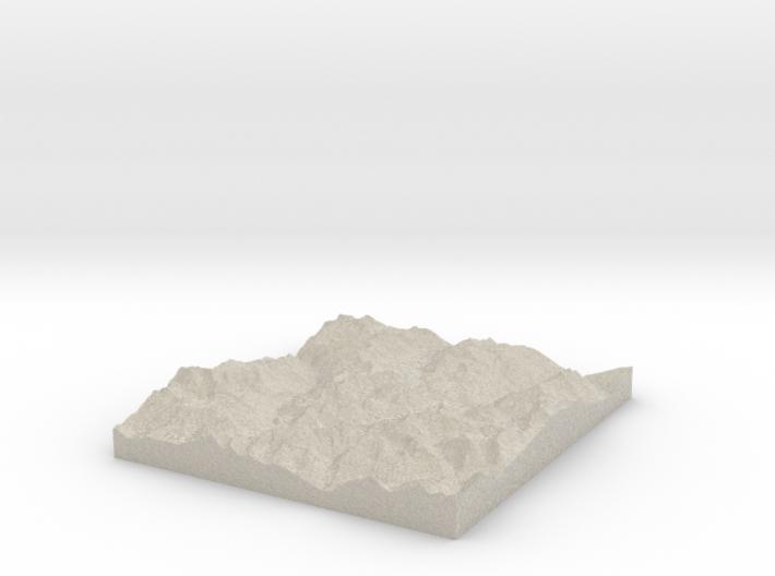 Model of Mont Blanc de Seilon 3d printed