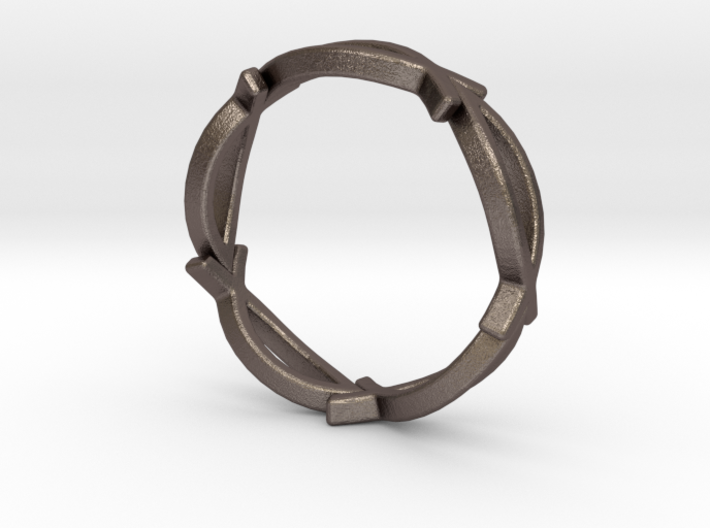 Jesus Fish Eterniy Style Ring Size 8 3d printed