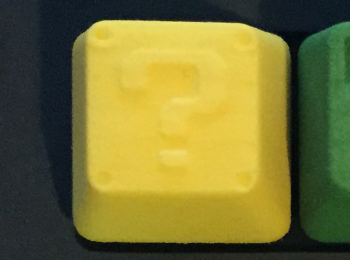 Question Block Cherry MX Keycap 3d printed